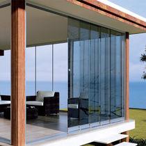 Baie vitrée télescopique / en aluminium