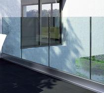 Panneau pare-vent en verre / en aluminium / professionnel