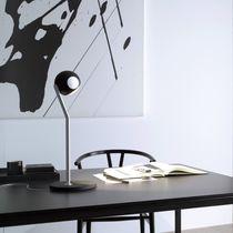 Lampe de table / contemporaine / en aluminium / face en verre
