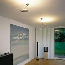 Plafonnier contemporain / rond / en métal / halogène