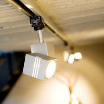 Éclairages sur rail halogènes / carrés / en aluminium / à usage professionnel