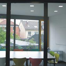 Downlight encastrée / fluocompacte / carrée / en fonte d'aluminium