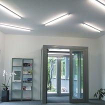Plafonnier contemporain / linéaire / en aluminium / en acier inoxydable