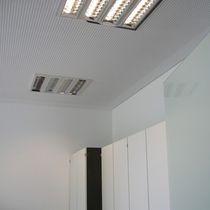 Luminaire encastrable au plafond / fluorescent / carré / en aluminium