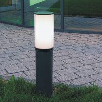 Borne d'éclairage urbaine / contemporaine / en métal / halogène