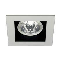 Downlight encastrée / halogène / carrée / en fonte d'aluminium