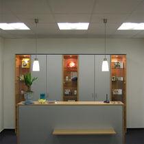 Lampe suspension / contemporaine / en aluminium / en verre