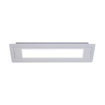 Éclairage de secours encastré / rectangulaire / à LED / en métal