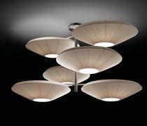Lampe suspension / contemporaine / en nickel / en polyester