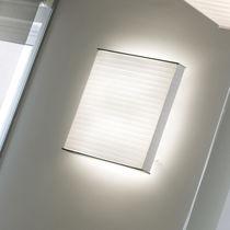 Applique murale contemporaine / en aluminium / fluocompacte / carrée