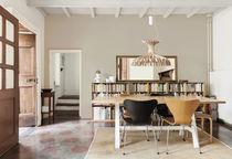 Lampe suspension / contemporaine / en bois / intérieure