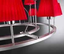 Lustre contemporain / en fer / en chrome / en coton