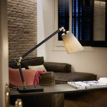 Lampe de table / contemporaine / en coton / en métal chromé