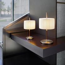 Lampe de table / contemporaine / en coton / en fer