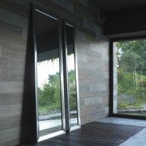 Miroir mural / contemporain / rectangulaire / en aluminium