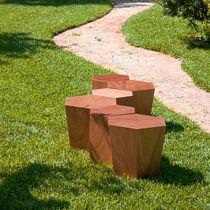 Tabouret contemporain / en pierre calcaire
