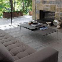 Table basse contemporaine / en métal / en céramique / rectangulaire