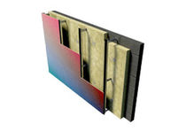 Isolant thermique / en laine de roche / pour façade / en panneau