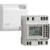 Thermostat programmable / sur rail DIN / mural / pour chauffage