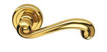 Poignée de porte / en laiton / classique / aspect doré