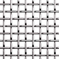 Toile métallique tissée pour façade / en métal / à maillage carré / à maillage long