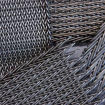 Maille métallique pour agencement intérieur / pour mur / en acier inoxydable / en laiton