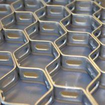 Maille métallique pour cloison / pour brise-soleil / en aluminium / en acier inoxydable