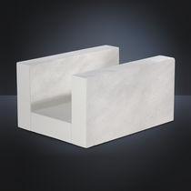 Bloc de chaînage en béton cellulaire / armé / rupteur thermique / horizontal