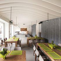 Panneau d'absorption acoustique pour mur intérieur / pour contre-cloison / en laine de bois / résidentiel