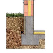 Isolant thermique / en laine de bois / pour fondation / pour cloison