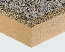 Complexe de doublage haute performance / isolant en fibragglo / âme en fibres de bois / 1 face bois