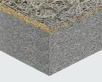 Panneau sandwich isolant pour toiture / pour mur / face en fibres de bois / âme en polystyrène expansé