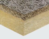 Complexe de doublage haute performance / isolant en fibragglo / âme en laine de roche / 1 face bois