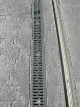 Caniveau de voirie / en métal / avec grille / de protection