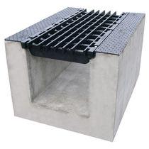 Caniveau routier / en métal / avec grille