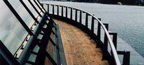 Caniveau de toiture / en acier inox / avec grille / plat