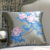Tissu d'ameublement / à fleurs / en doupion de soie