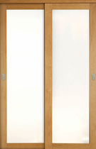 Porte pour placard / battante / coulissante / en chêne
