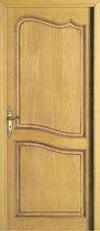 Porte d'entrée / battante / en bois