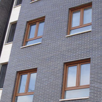 Brique perforée / pour façade / noire / surcuite