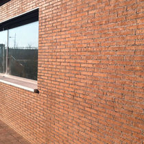 Brique de parement en céramique / pour façade / rouge / rustique