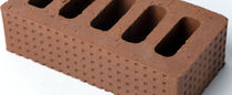Brique acoustique / pour cloison / rouge