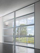 Cloison fixe / en aluminium / vitrée / à usage professionnel