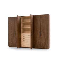 Armoire modulable / contemporaine / en bois massif / en cèdre