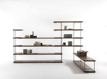 Étagère contemporaine / en bois massif / en métal