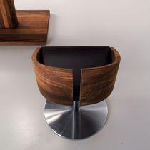 Chaise contemporaine / pivotante / tapissée / piètement central