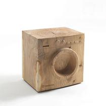Tabouret design original / en bois massif / en cèdre