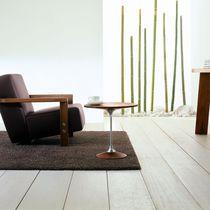 Table d'appoint contemporaine / en bois / en aluminium / ronde