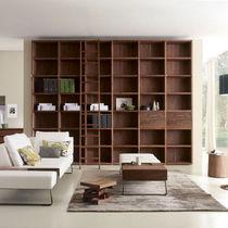 Bibliothèque modulable / contemporaine / en chêne / en bois massif