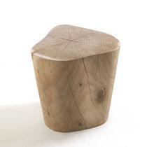 Tabouret contemporain / en bois massif / en cèdre